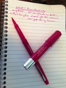 Plumberry pen and lipstick