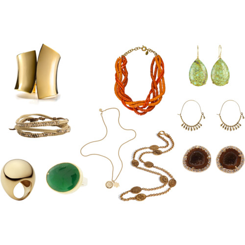 Sometimes new jewelry will make older clothing pieces look fresh again.