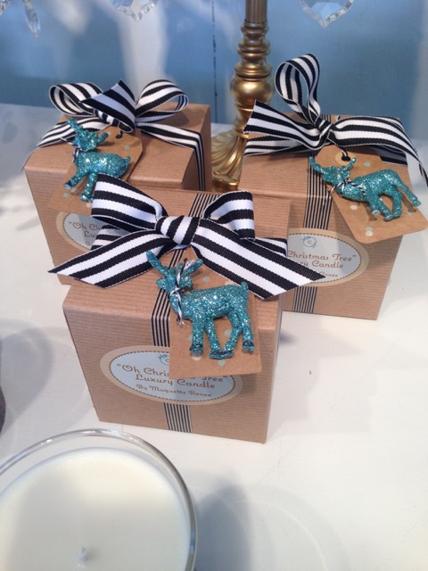 Muguette's candles are packaged with such care as shown on Brenda Kinsel's website