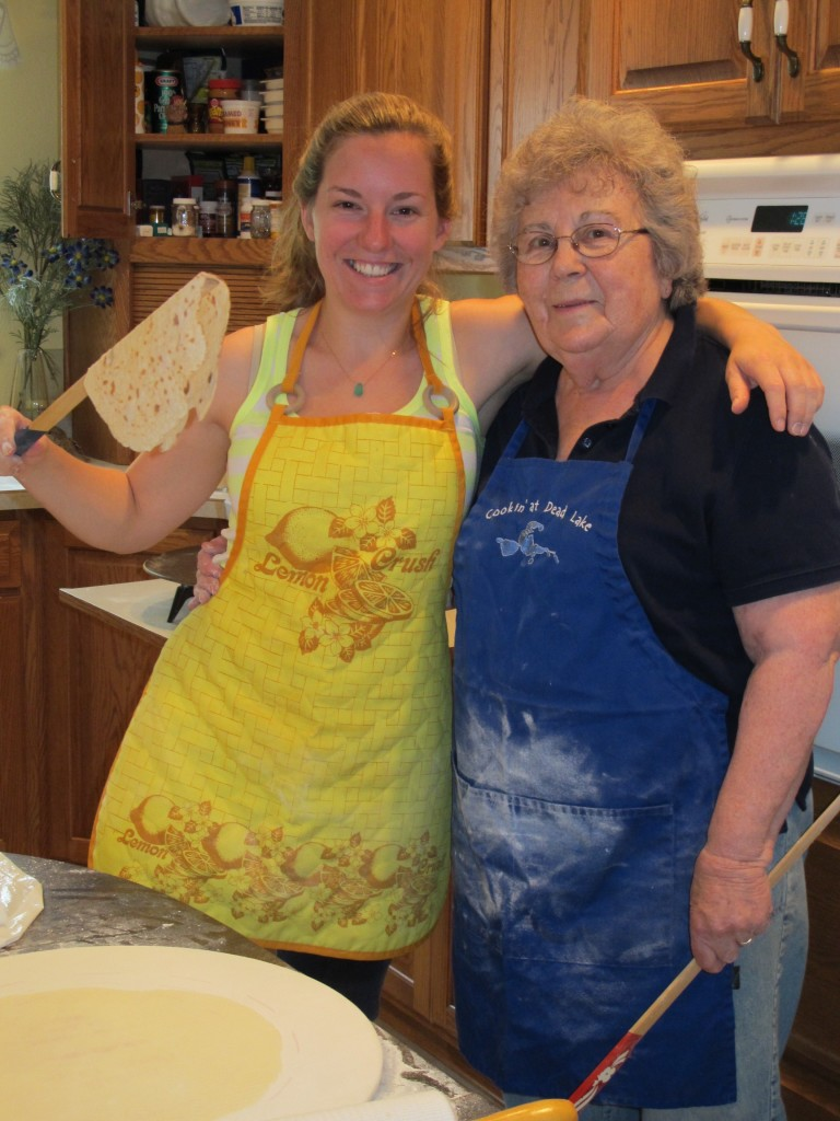 making lefse on Brenda Kinsel website