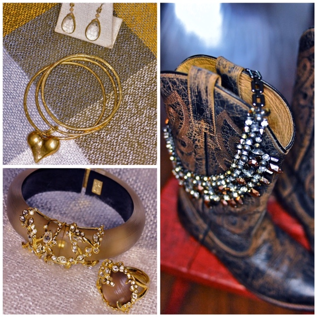 One thing that holds these accessory pieces together is the warm tones.