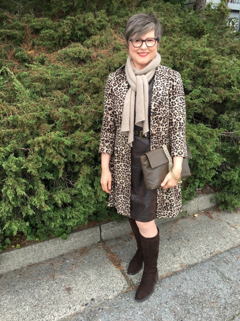 Two animal prints in one outfit on Brenda Kinsel