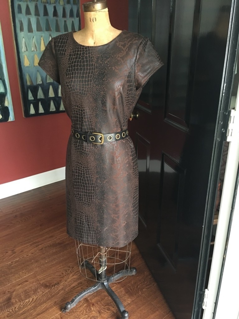 Belted dress on Brenda Kinsel