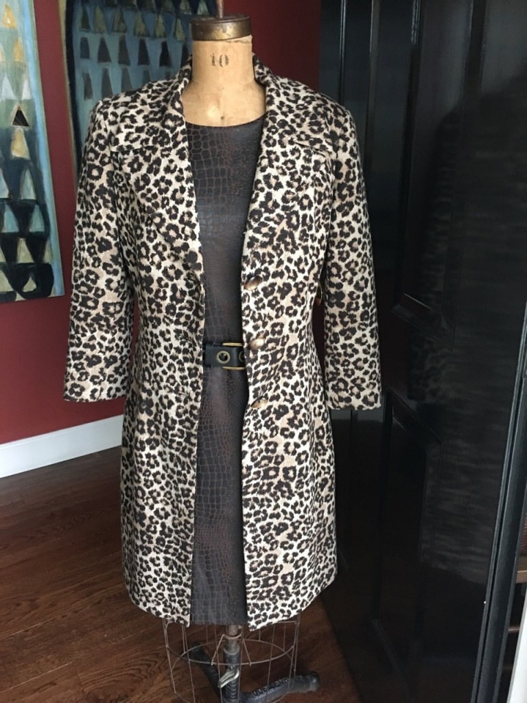 Add a leopard print coat