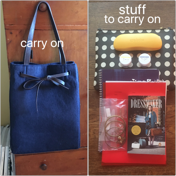 Packing the carry on on Brenda Kinsel website