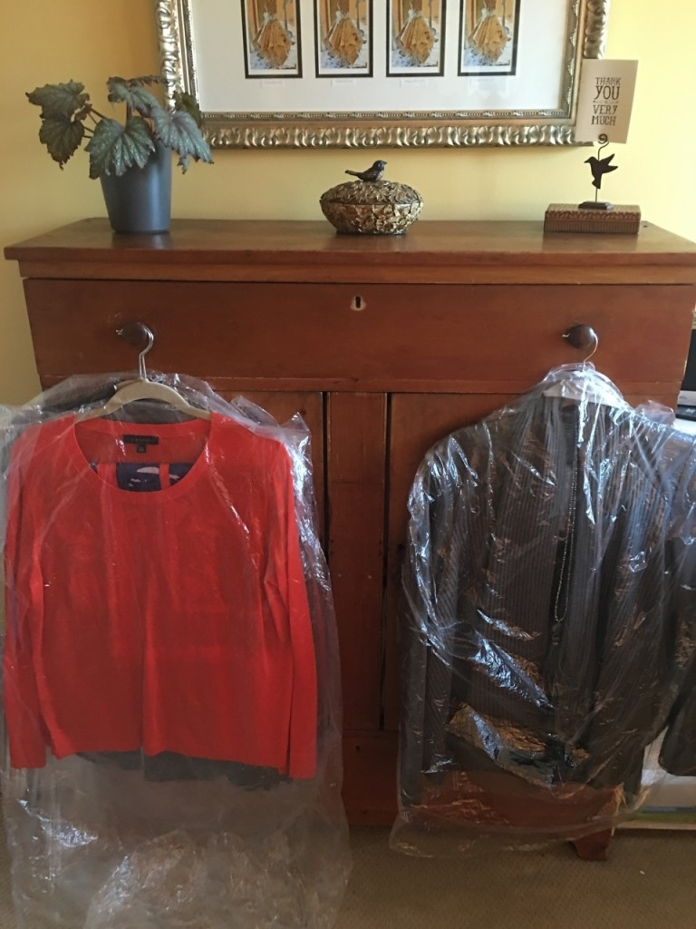 Keeping wrinkles out by adding dry cleaning page