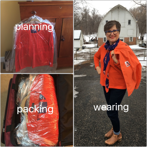 Party outfit is ready to wear on Brenda Kinsel website