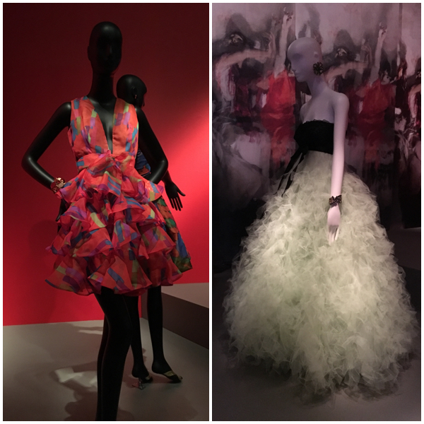 Oscar dresses at the de Young Museum on Brenda Kinsel website