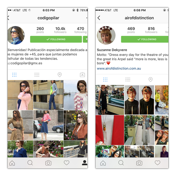 Instagram fashion from around the world on Brenda Kinsel website