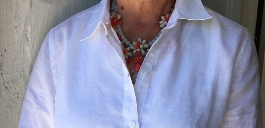 Mixing Chico's with my favorite jewels on Brenda Kinsel website