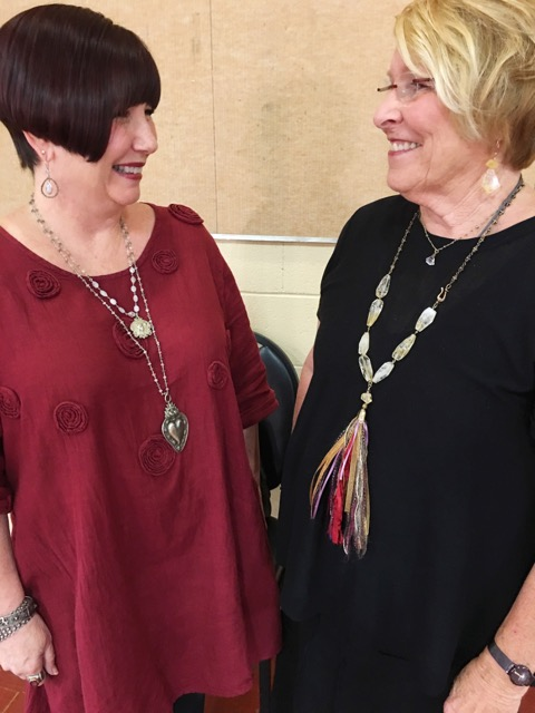 Friends making jewelry on Brenda Kinsel website