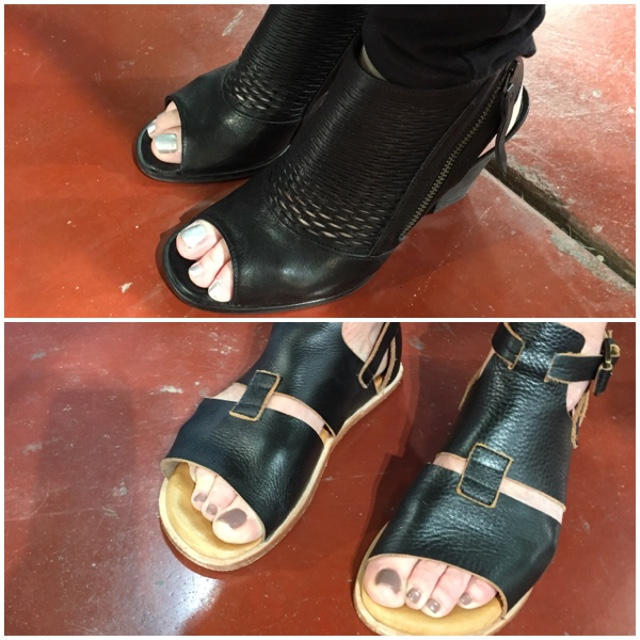 Stylish shoes at the gem faire on Brenda Kinsel website
