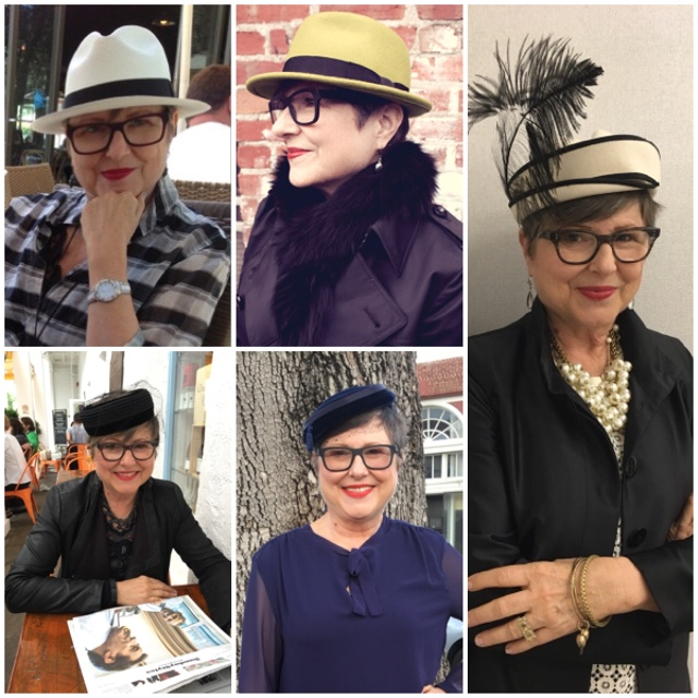 wearing hats has gotten easier on Brenda Kinsel website