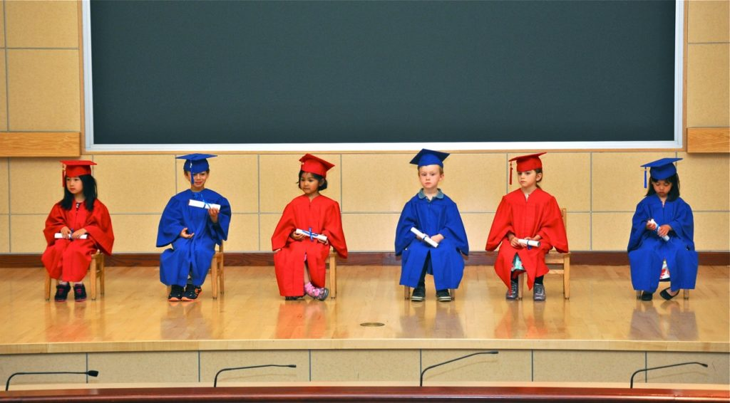kindergarten graduates on Brenda Kinsel website