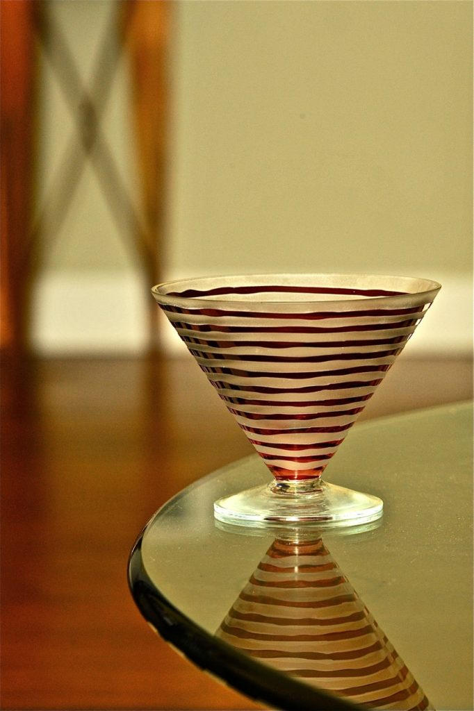 Glassware with rows on Brenda Kinsel website