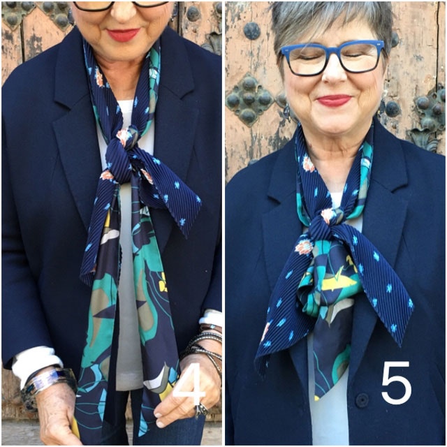 How to create a double scarf statement.