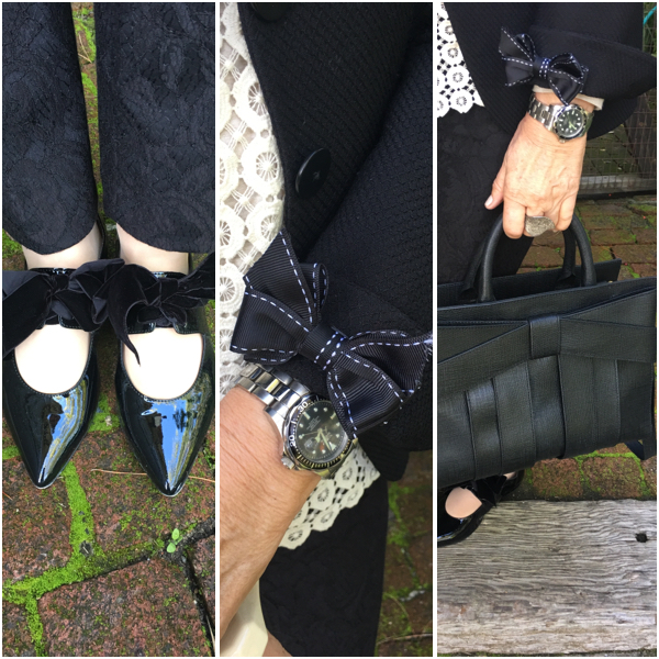 Bows are the perfect detail for this outfit on BrendaKinsel.com