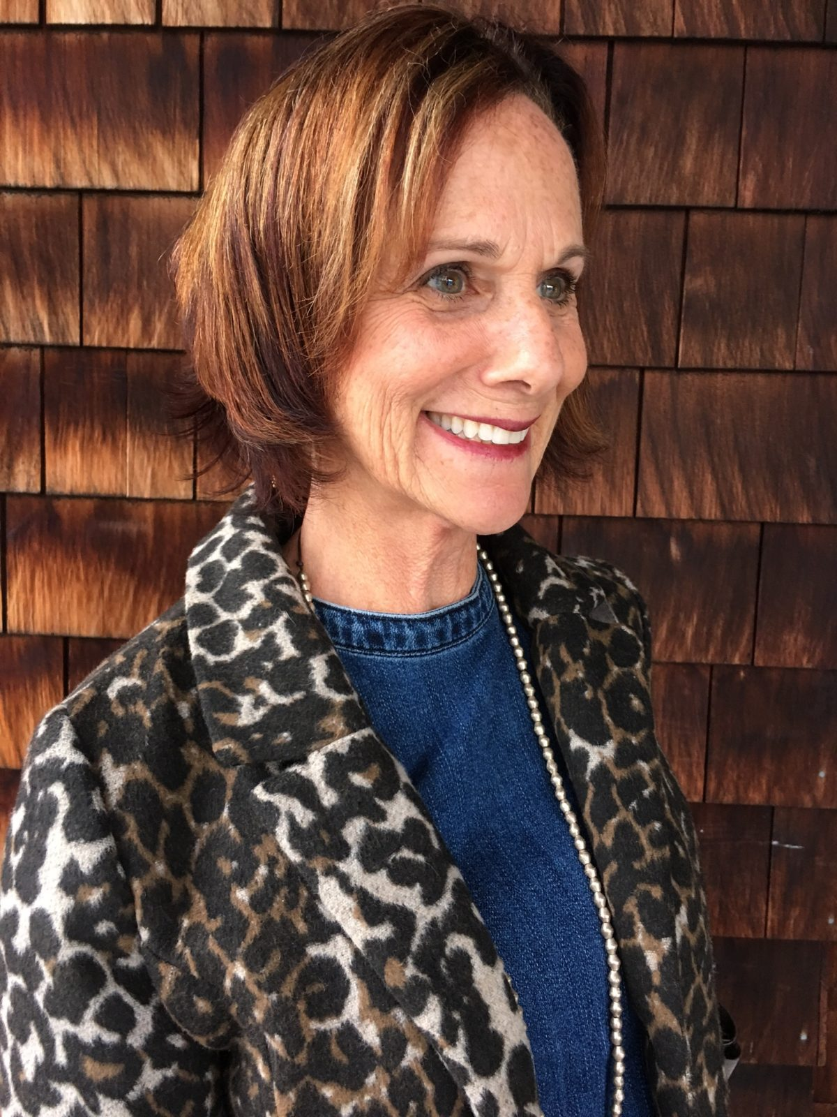 Relating a leopard print to your hair coloring on BrendaKinsel.com