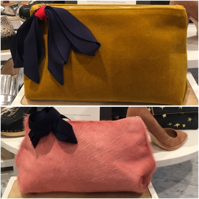Sensual bags with grosgrain bows at Anthropologie