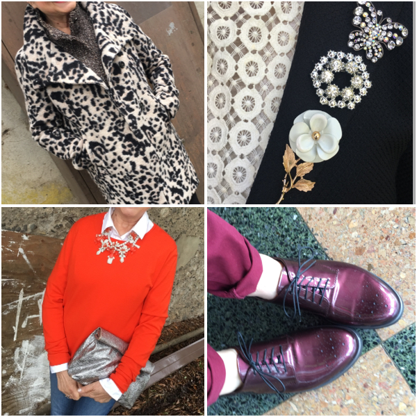Color, accessories or pattern can spark ideas for an outfit on BrendaKinsel.com