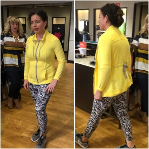 Chico's yellow outfit is great for activewear on BrendaKinsel.com