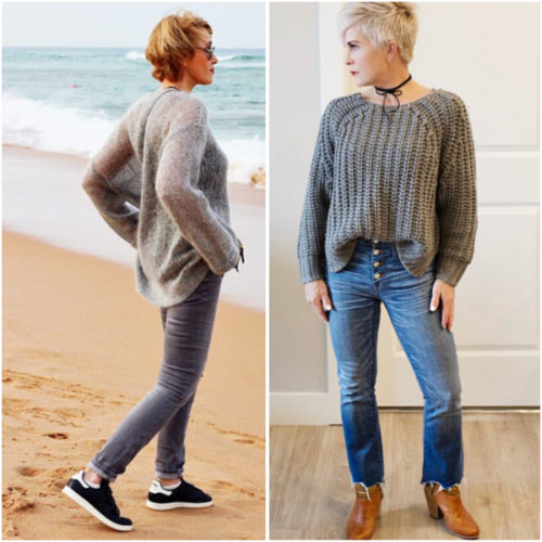 Jeans and sweaters for casual life