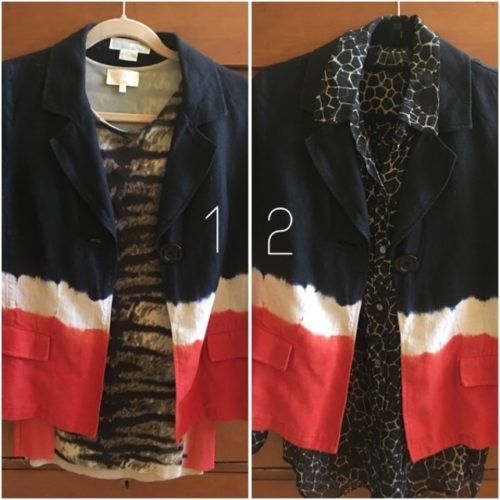 Kors jacket with blouses