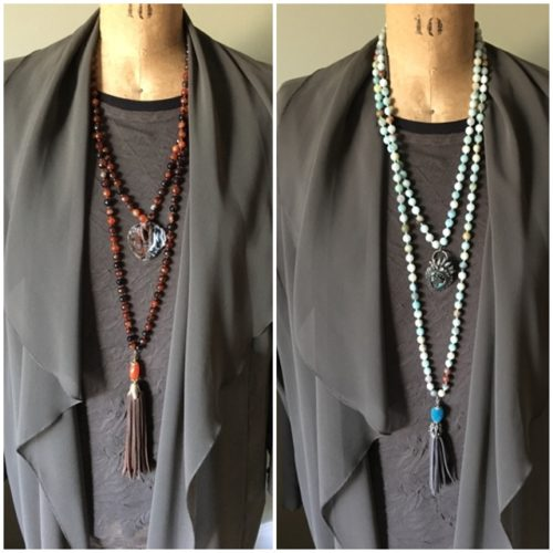Signature necklaces add interest