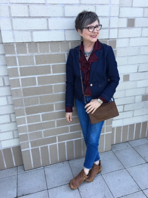 Brown bag with rough outfit - Brenda Kinsel 388793edd572
