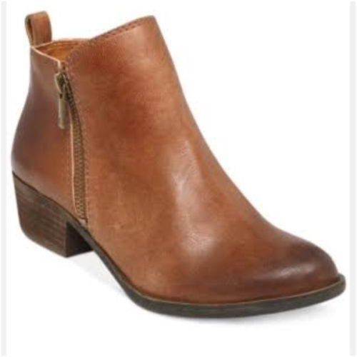 Wearing toffee brown booties for multiple outfits