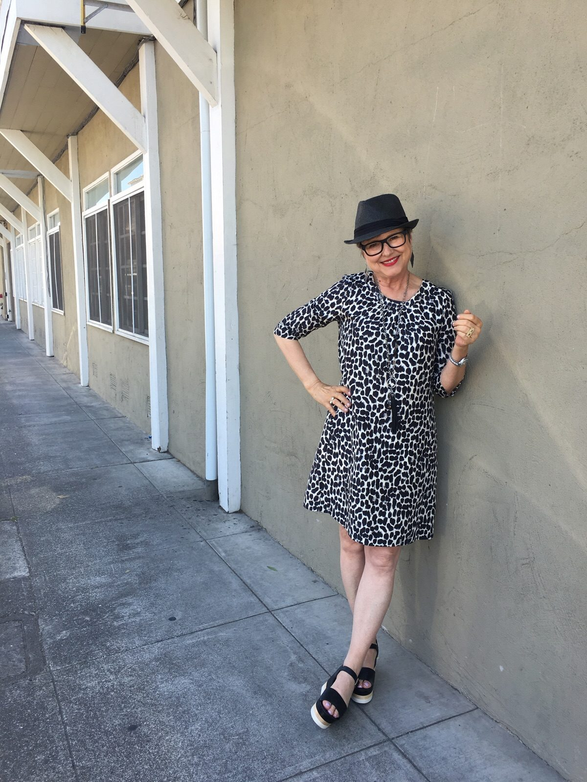 Enjoying wearing a dress on BrendaKinsel.com