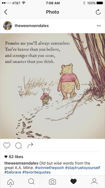 Advice from Winnie the Pooh on BrendaKinsel.com