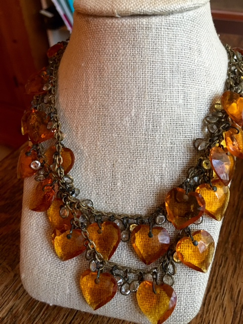 Vintage heart necklace on BrendaKinsel.com