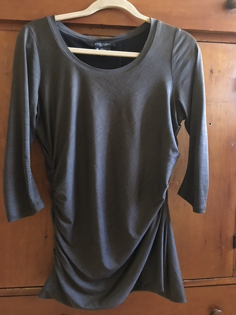 Silk tee for layering