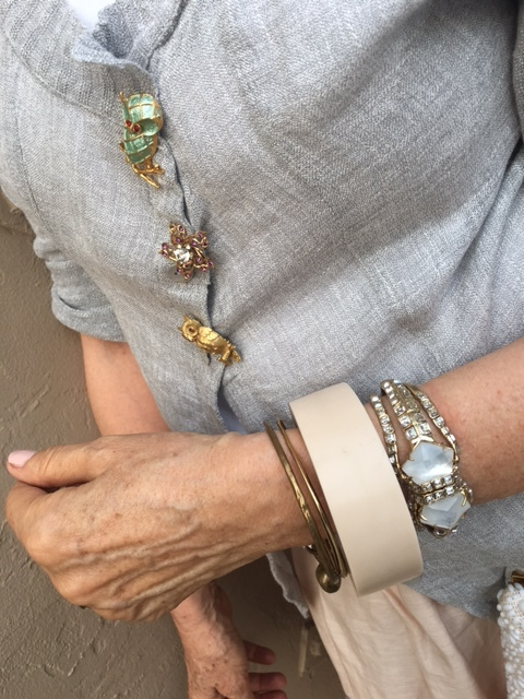 Accessorizing with bracelets