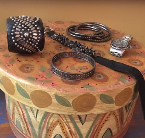 A go-to stash of bracelets
