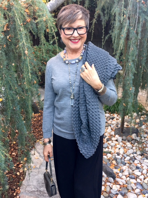 Shades of gray for a party outfit