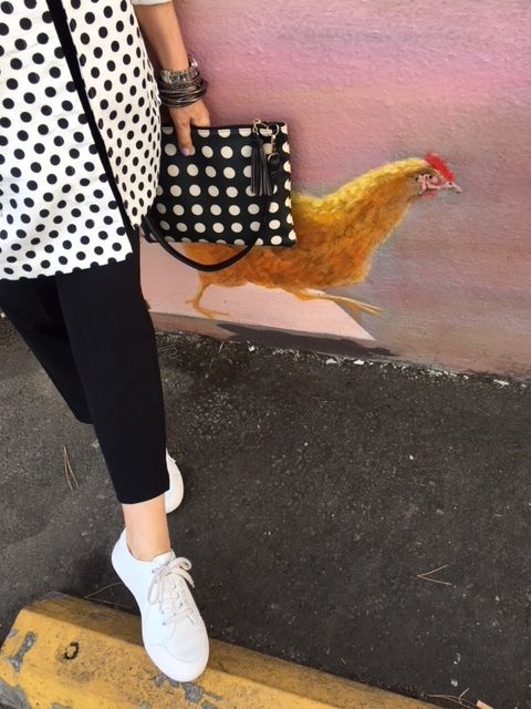 Dotted handbag