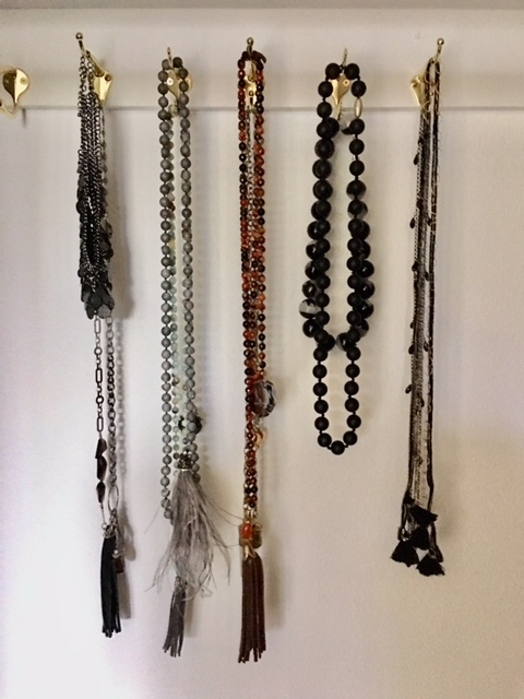 Storage solutions for necklaces