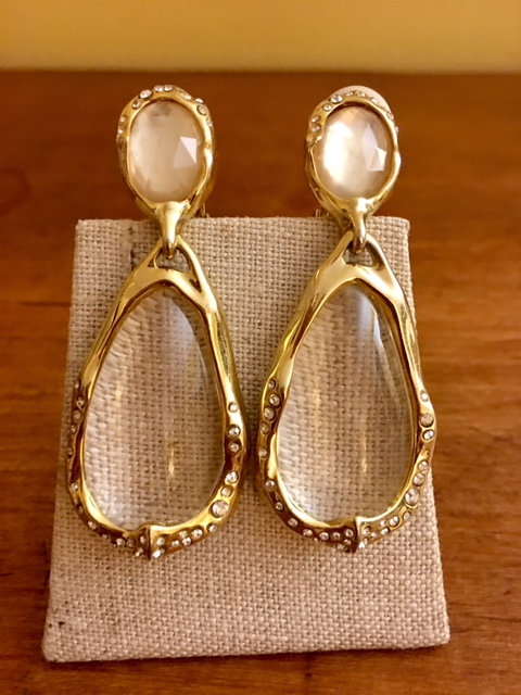 Alexis Bittar earrings to wear with statement necklaces