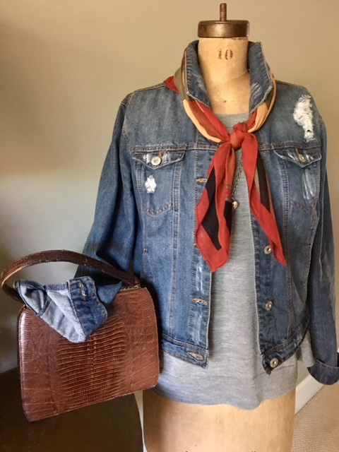 Vintage handbag with jean outfit