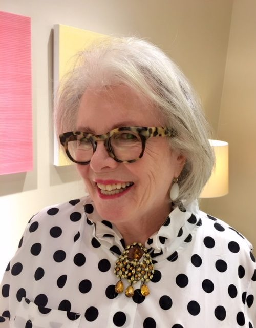 Sandra Sallin wears her mother's brooch