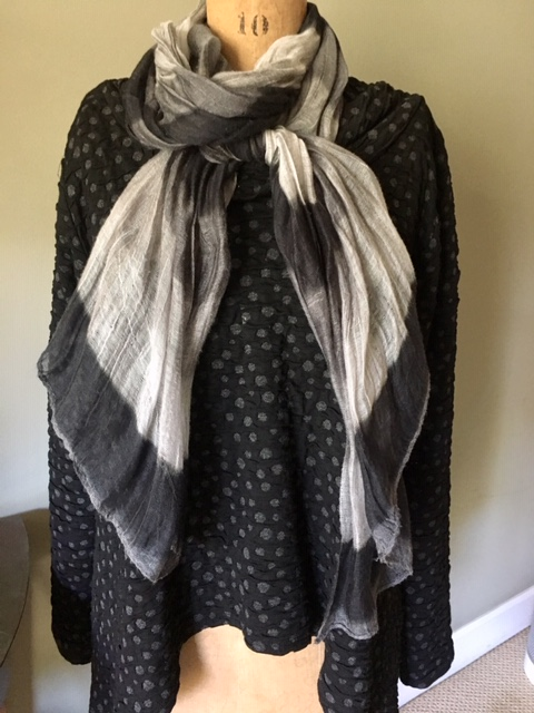 A full scarf with the Marjory Top