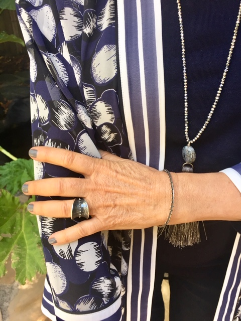 Dahlia Kanner's Bumpy Belted Ring