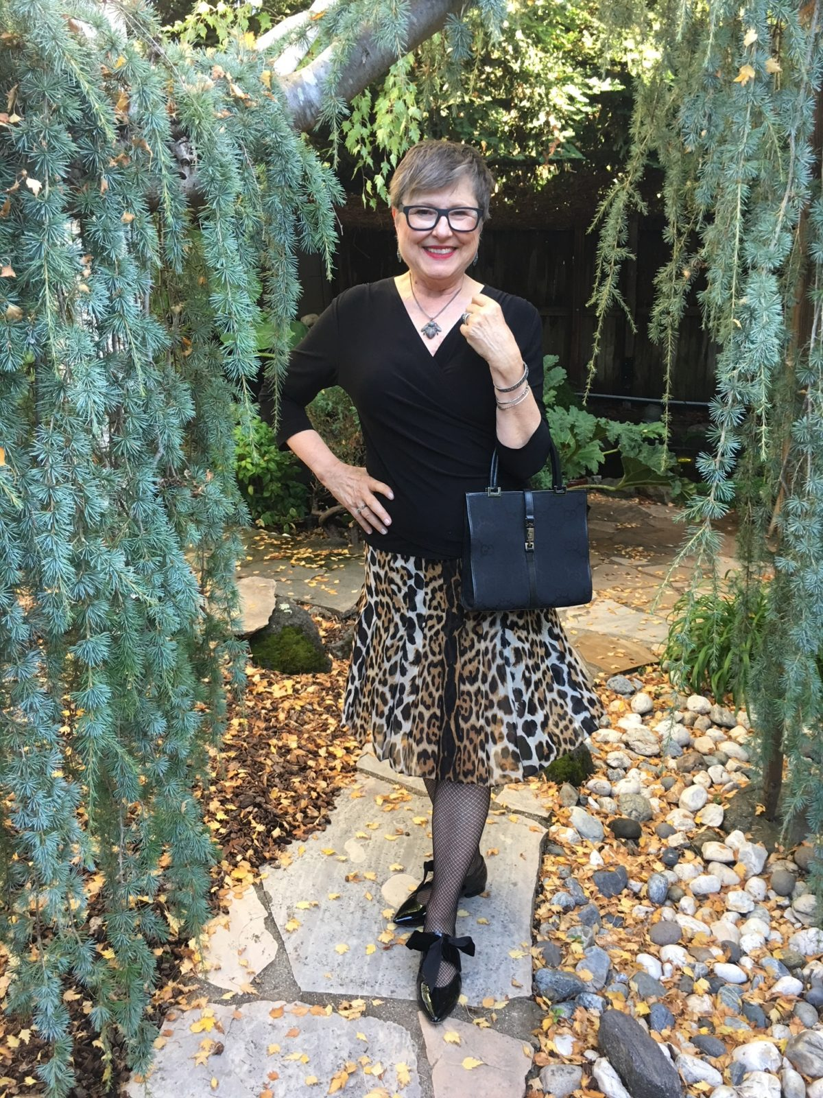 Styling outfit with leopard print