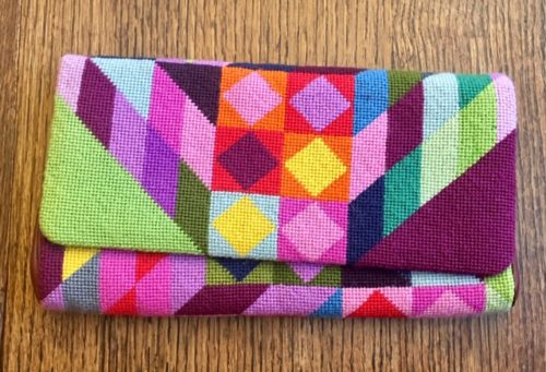 Handmade colorful clutch