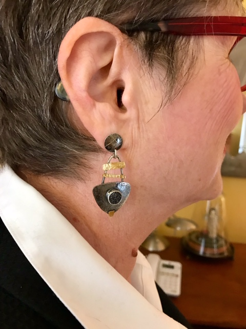 Artful earrings