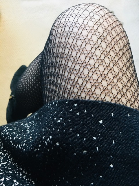 Fishnets with dress